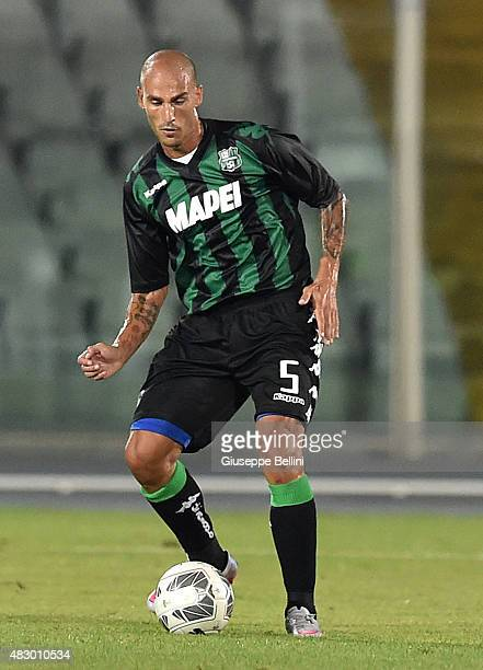 Paolo Cannavaro of Sassuolo in action during the preseason friendly match between Pescara Calcio and US Sassuolo Calcio at Adriatico Stadium on...