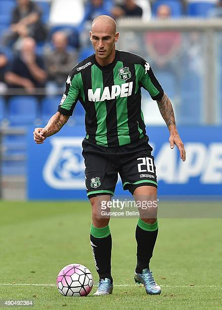Paolo Cannavaro of Sassuolo in action during the Serie A match between US Sassuolo Calcio and AC Chievo Verona at Mapei Stadium Città del Tricolore...