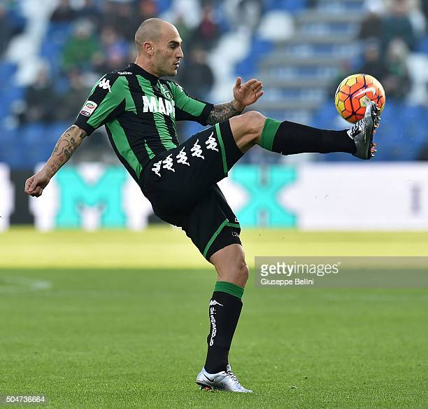 Paolo Cannavaro of Sassuolo in action during the Serie A match between US Sassuolo Calcio and Frosinone Calcio at Mapei Stadium Città del Tricolore...
