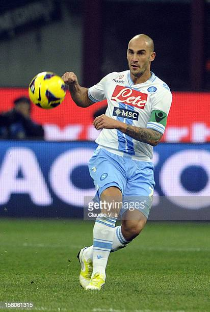 Paolo Cannavaro of SSC Napoli in action during the Serie A match between FC Internazionale Milano and SSC Napoli at San Siro Stadium on December 9...