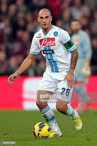 Paolo Cannavaro of SSC Napoli in action during the Serie A match between Genoa CFC and SSC Napoli at Stadio Luigi Ferraris on November 11 2012 in...