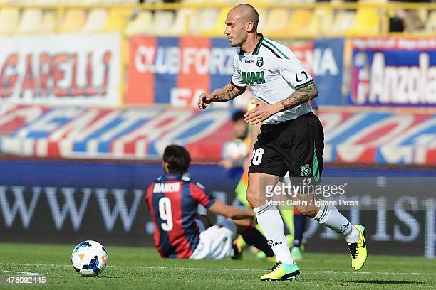 Paolo Cannavaro of US Sassuolo Calcio in action during the Serie A match between Bologna FC and US Sassuolo Calcio at Stadio Renato Dall'Ara on March...