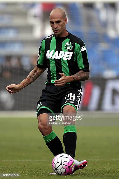 Paolo Cannavaro of US Sassuolo Calcio in action during the Serie A match between US Sassuolo Calcio and Atalanta BC at Mapei Stadium Città del...