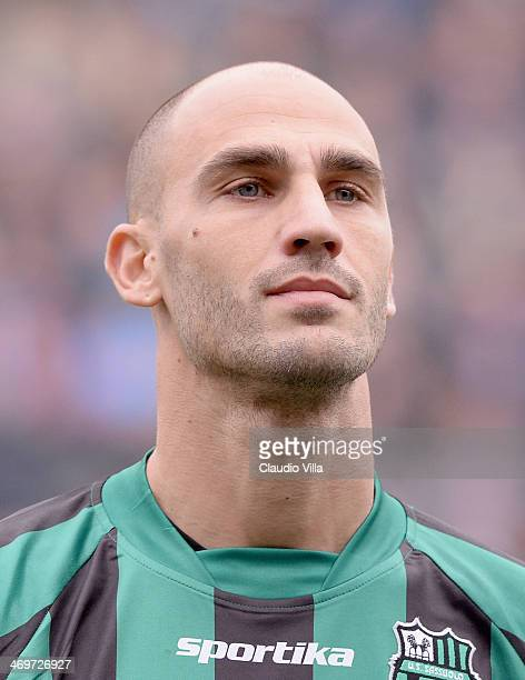 Paolo Cannavaro of US Sassuolo Calcio looks on prior to the the Serie A match between US Sassuolo Calcio and SSC Napoli on February 16 2014 in Reggio...