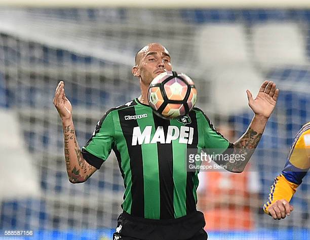 Paolo Cannavaro of US Sassuolo in action during the Third Qualifying Round Europa League between US Sassuolo and FC Luzern at Mapei Stadium Città...