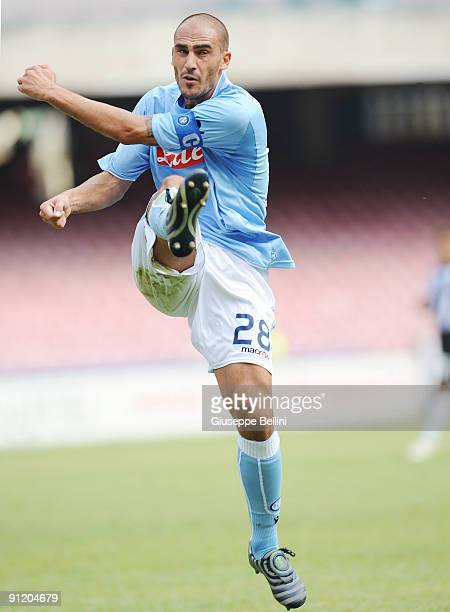 Paolo Cannavaro SSC Napoli during the serie A match between SSC Napoli v AC Siena at Stadio San Paolo on September 27 2009 in Naples Italy