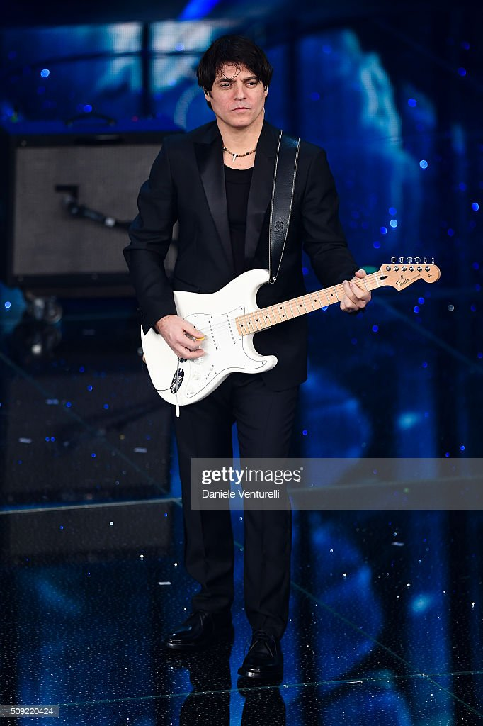Paolo Carta attends the opening night of the 66th Festival di Sanremo 2016 at Teatro Ariston on February 9, 2016 in Sanremo, Italy.