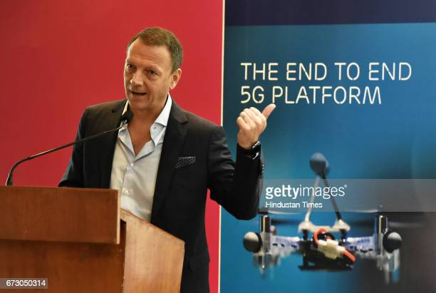 Paolo Colella Head of Region India Ericsson hosts the Taste of Barcelona India Roadshow 2017 on April 25 2017 in Gurgaon India Comprising of over 25...