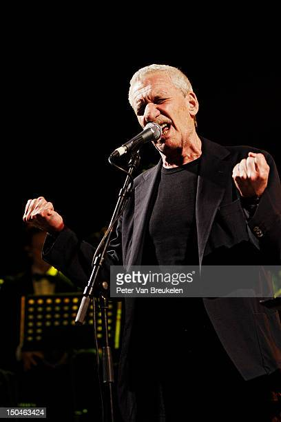 Paolo Conte performs on stage during Middelheim Jazz festival on August 18 2012 in Antwerpen Belgium