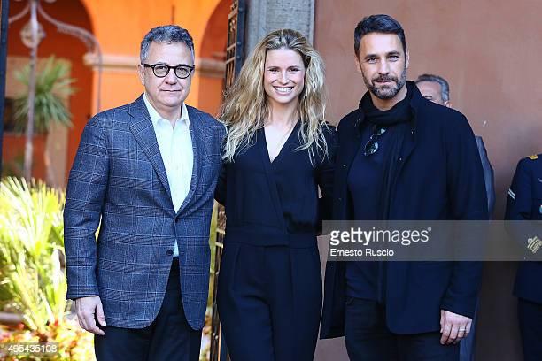 Paolo Del Brocco Michelle Hunziker and Raoul Bova attend the 'Insieme Contro La Violenza' Convention at Scuola di Perfezionamento per le Forze di...
