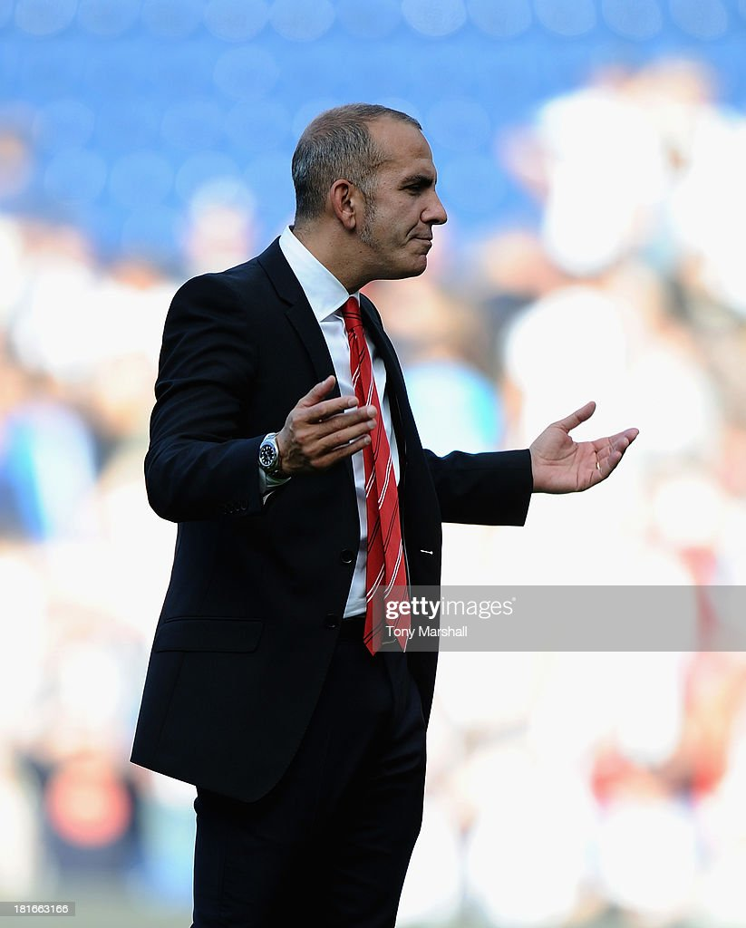 Paolo Di Canio, manager of Sunderland confronts the fans at the end of the Barclays Premier League match between West Bromwich Albion and Sunderland at The Hawthorns on September 21, 2013 in West Bromwich, England.