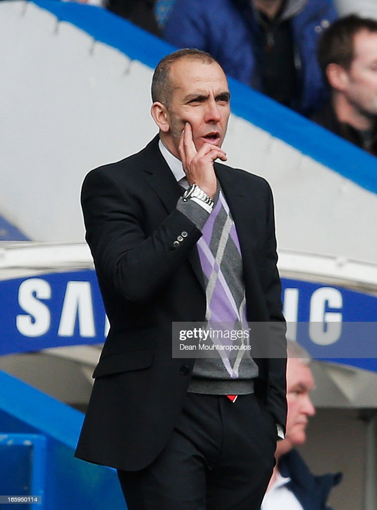 Paolo Di Canio, manager of Sunderland looks on during the Barclays Premier League match between Chelsea and Sunderland at Stamford Bridge on April 7, 2013 in London, England.