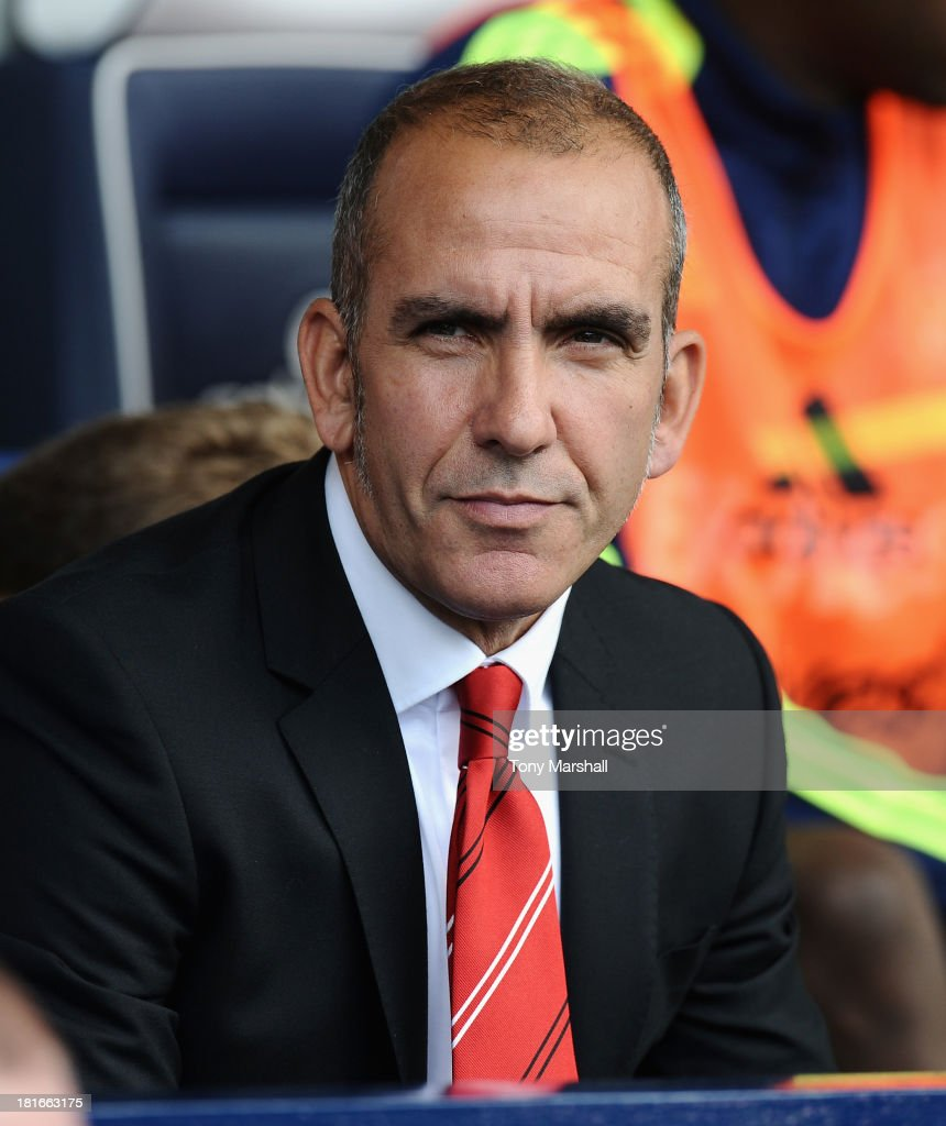 Paolo Di Canio manager of Sunderland on the bench during the Barclays Premier League match between West Bromwich Albion and Sunderland at The...