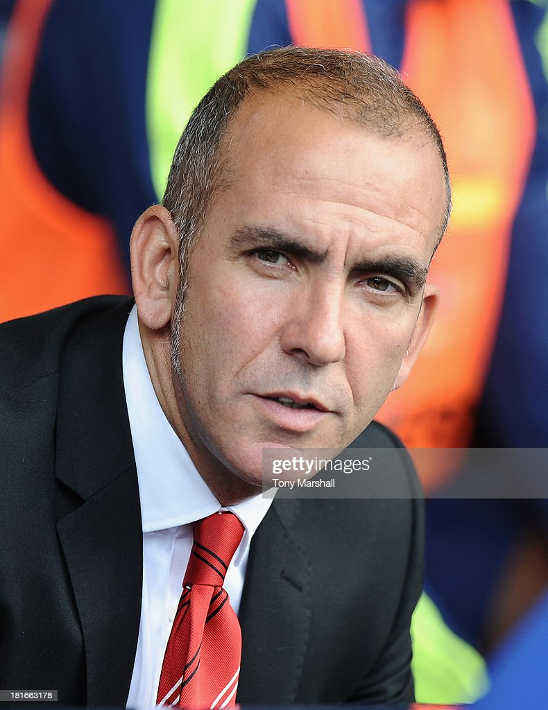 Paolo Di Canio, manager of Sunderland on the bench during the Barclays Premier League match between West Bromwich Albion and Sunderland at The Hawthorns on September 21, 2013 in West Bromwich, England.
