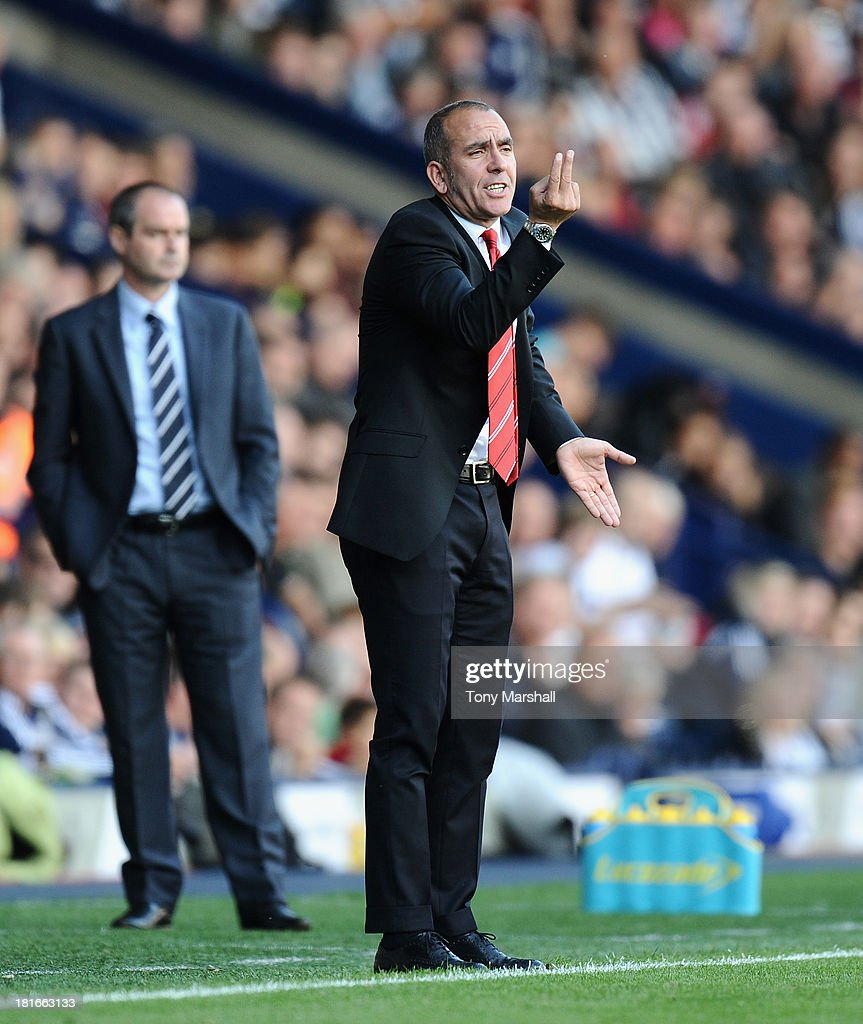 Paolo Di Canio, manager of Sunderland on the touch line during the Barclays Premier League match between West Bromwich Albion and Sunderland at The Hawthorns on September 21, 2013 in West Bromwich, England.