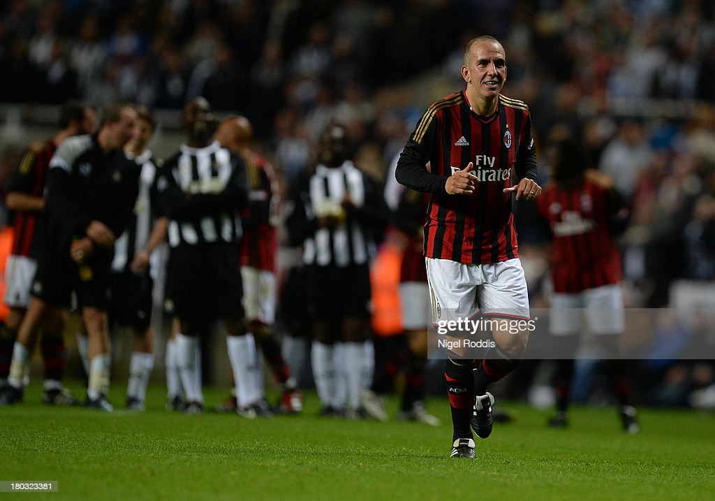 Paolo Di Canio of AC Milan Glorie during Steve Harper's testimonial match between Newcastle United and AC Milan Glorie at St James' Park on September 11, 2013 in Newcastle upon Tyne, England.