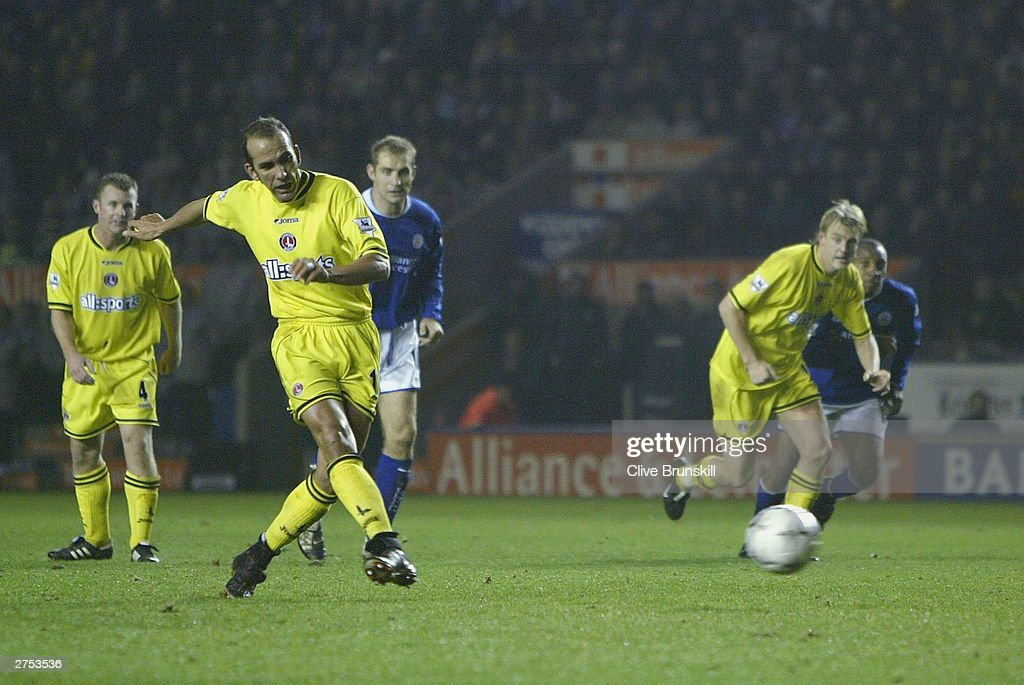 Paolo Di Canio of Charlton scores during the FA Barclaycard Premiership match between Leicester City and Charlton Athletic at Walkers Stadium on Novermber 22, 2003 in Leicester, England.