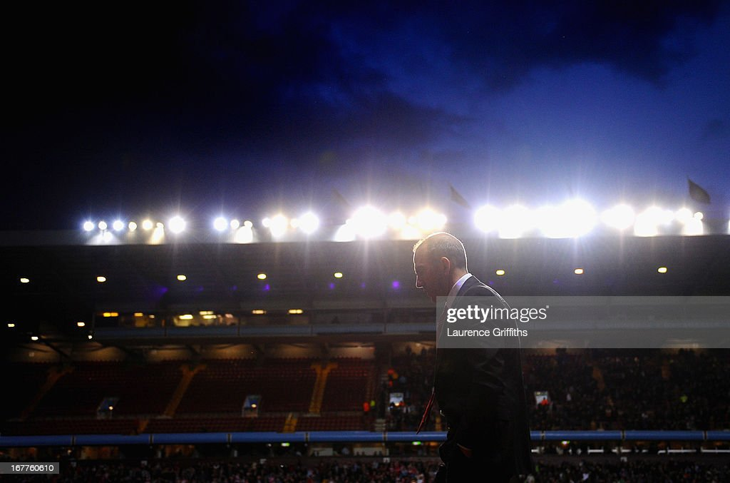 Paolo Di Canio of Sunderland shows his dissapointment as he walks off at half time during the Barclays Premier League match between Aston Villa and...