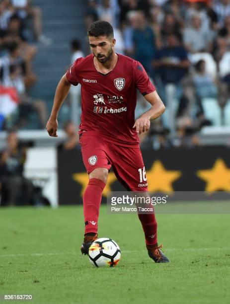 Paolo Farago of Cagliari Calcio in action during the Serie A match between Juventus and Cagliari Calcio at Allianz Stadium on August 19 2017 in Turin...