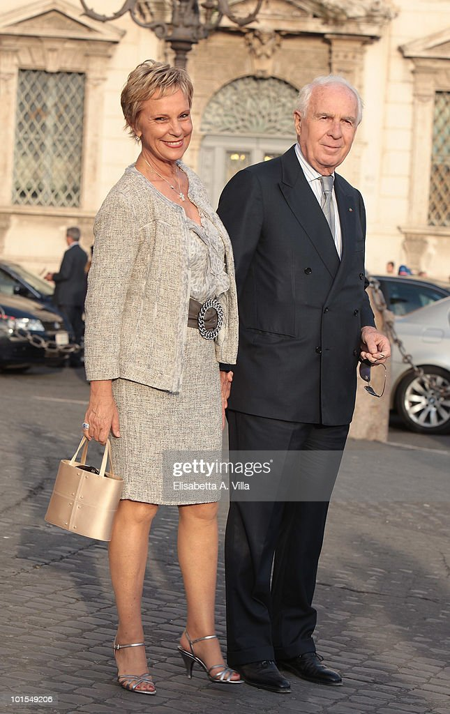 Paolo Ferrari and wife arrive at the Quirinale Palace to attend a gala dinner hosted by Italian President Giorgio Napolitano on June 1, 2010 in Rome, Italy.