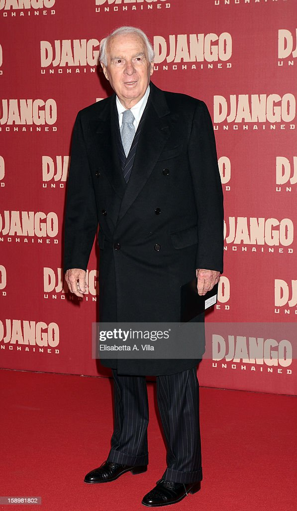 Paolo Ferrari attends 'Django Unchained' premiere at Cinema Adriano on January 4, 2013 in Rome, Italy.
