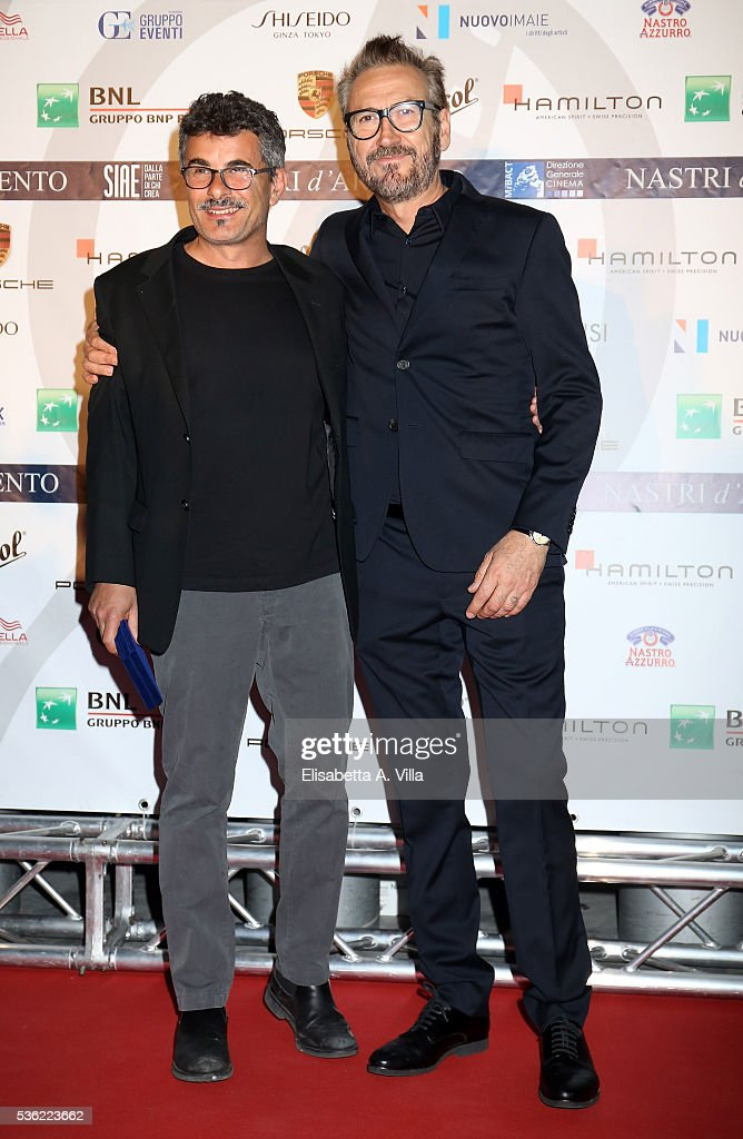 Paolo Genovese and Marco Giallini attend Nastri D'Argento 2016 Award Nominations at Maxxi on May 31, 2016 in Rome, Italy.