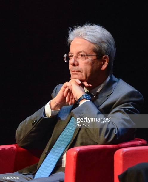 Paolo Gentiloni during presentation of the book 'Quando' by Walter Veltroni at Auditorium Rome on november 16 2017