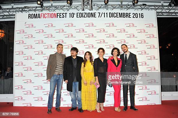 Paolo Kessisoglu Ricky Memphis Sabrina Impacciatore Ilaria Spada Nicole Grimaudo and Luca Bizzarri attend a red carpet for ' Immaturi' during the...