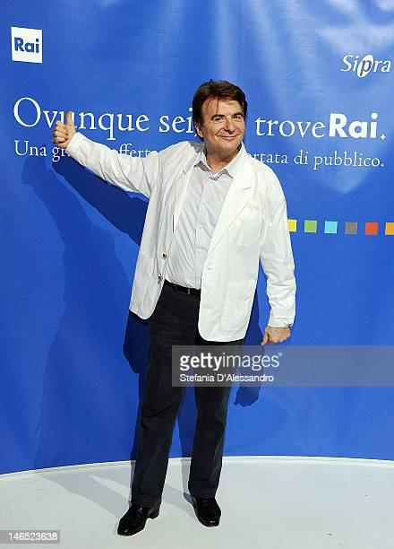 Paolo Limiti attends Presentazione Palinsesti Rai Photocall on June 18 2012 in Milan Italy