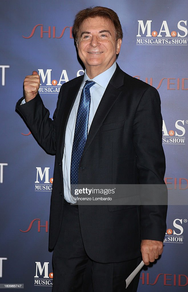 Paolo Limiti attends the opening night of 'Ghost - The Musical' at the Teatro Nazionale on October 10, 2013 in Milan, Italy.