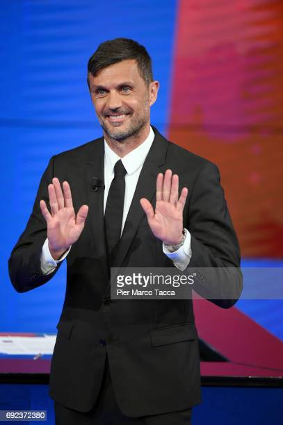 Paolo Maldini attends 'Che Tempo Che Fa' TV show on June 4 2017 in Milan Italy