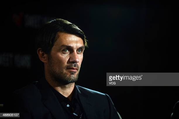 Paolo Maldini attends Sweet Years press conference on May 8 in Guangzhou Guangdong Province of China