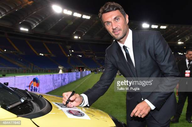 Paolo Maldini attends the Interreligious Match For Peace at Olimpico Stadium on September 1 2014 in Rome Italy