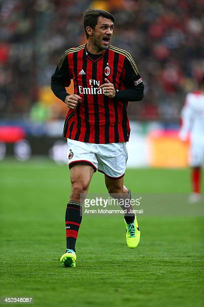 Paolo Maldini of AC Milan Glorie in action during the Perspolis FC v AC Milan Glorie Milan Foundation Fund Raising Friendly match on November 28 2013...