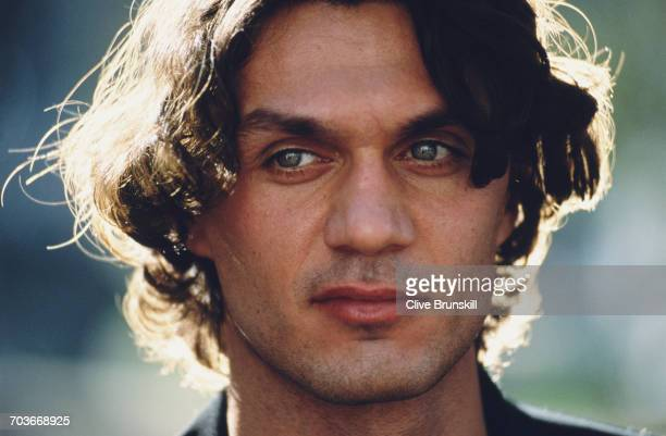 Paolo Maldini of Italy and AC Milan Football Club poses for a portrait for soft drinks manufacturer PepsiCola on 23 December 1999 in Seville Spain