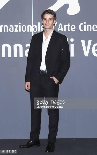 Paolo Marco Caterino walks the red carpet ahead of the 'Nato A Casal Di Principe' screening during the 74th Venice Film Festival at Sala Giardino on...