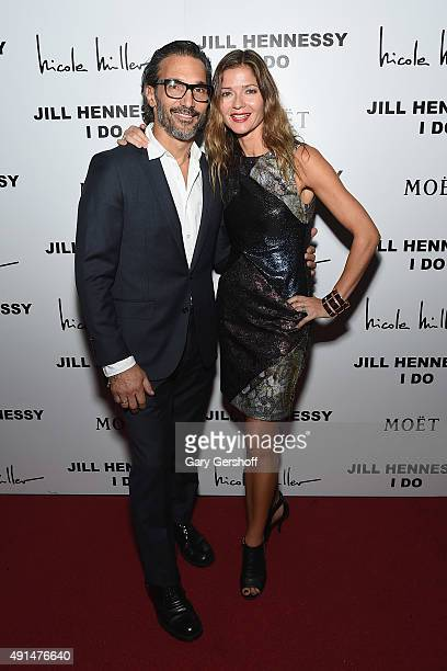 Paolo Mastropietro and Jill Hennessy attend the album release party for Jill Hennessy's 'I Do' at The Cutting Room on October 5 2015 in New York City