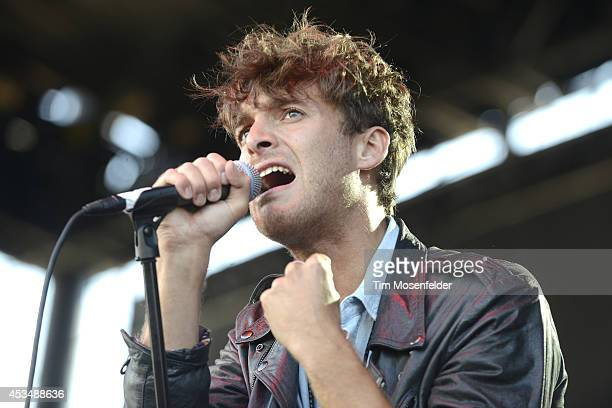 Paolo Nutini performs during the Outside Lands Music Festival at Golden Gate Park on August 10 2014 in San Francisco California