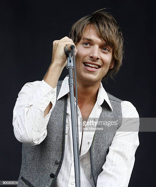 Paolo Nutini performs on Day 2 of the V Festival at Hylands Park on August 23 2009 in Chelmsford England