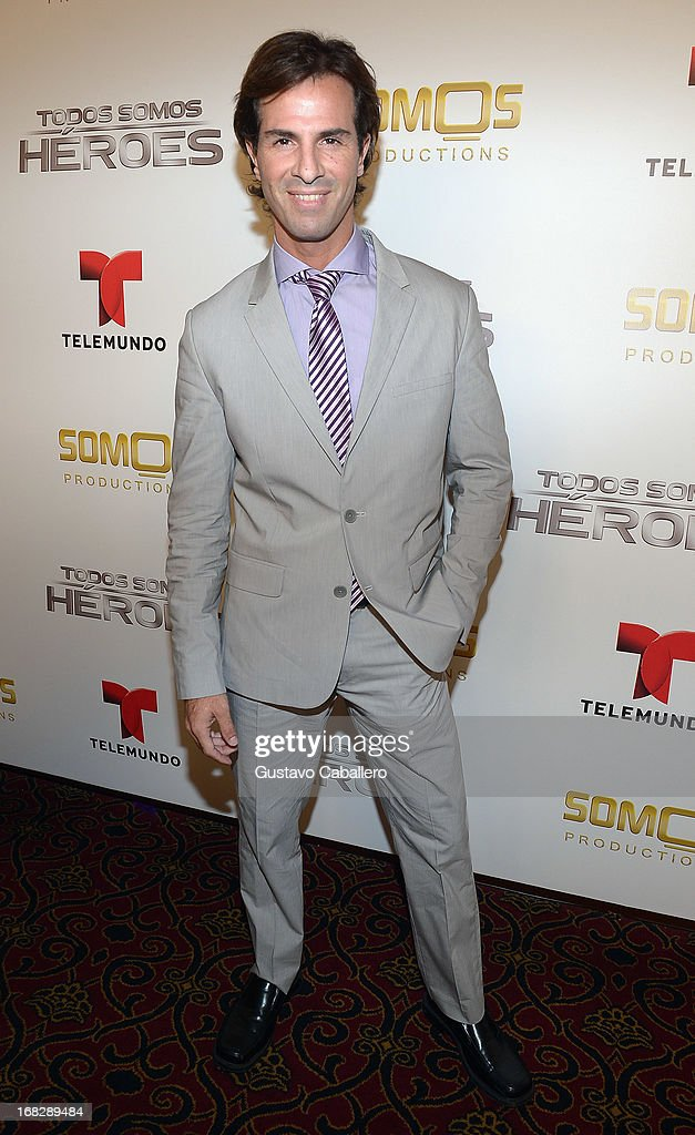 Paolo Quaglia attends the Telemundo's Todos Somos Heroes Gala on May 7, 2013 in Miami, United States.