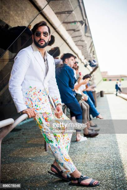 Paolo Roda is seen during Pitti Immagine Uomo 92 at Fortezza Da Basso on June 14 2017 in Florence Italy
