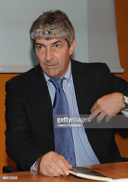 Paolo Rossi attends the ''Quando cade l'acrobata entrano i clown'' book presentation during the 2010 Turin International Book Fair on May 14 2010 in...