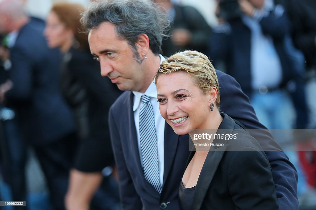 Paolo Sorrentino and his wife Daniela D'Antonio attend 'One Night Only' hosted by Giorgio Armani at Museo Della Civilta Del Lavoro in Roma on June 5, 2013 in Rome, Italy.