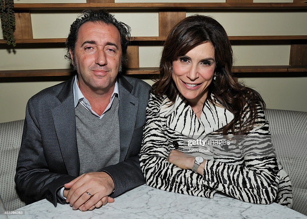 <a gi-track='captionPersonalityLinkClicked' href=/galleries/search?phrase=Paolo+Sorrentino&family=editorial&specificpeople=615140 ng-click='$event.stopPropagation()'>Paolo Sorrentino</a> and Jo Champa attend the Weinstein Company's holiday party at RivaBella on November 21, 2013 in West Hollywood, California.