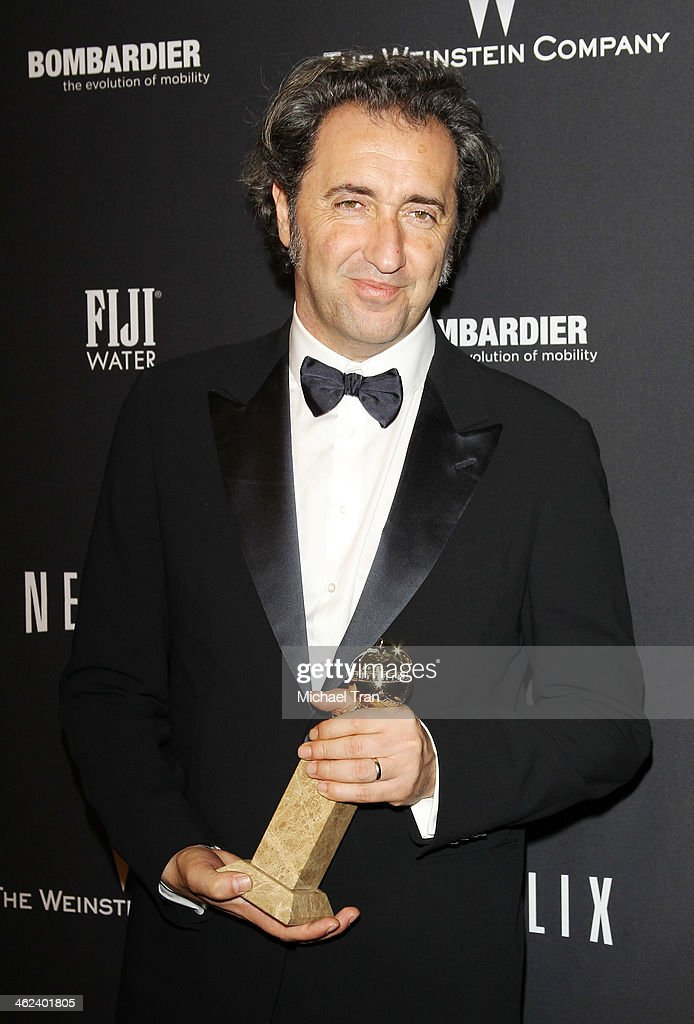 Paolo Sorrentino arrives at The Weinstein Company and NetFlix 2014 Golden Globe Awards after party held on January 12 2014 in Beverly Hills California