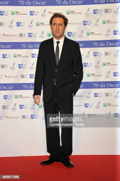 Paolo Sorrentino attends a photocall for Nastri D'Argento on March 22 2017 in Rome Italy