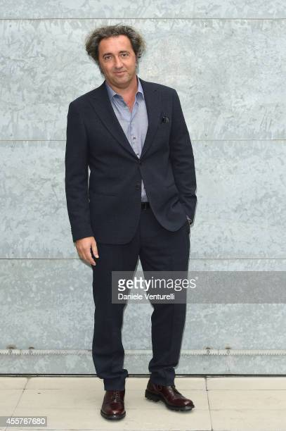 Paolo Sorrentino attends the Giorgio Armani Show as part of Milan Fashion Week Womenswear Spring/Summer 2015 on September 20 2014 in Milan Italy