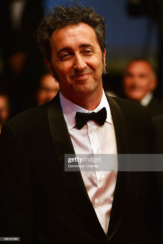 <a gi-track='captionPersonalityLinkClicked' href=/galleries/search?phrase=Paolo+Sorrentino&family=editorial&specificpeople=615140 ng-click='$event.stopPropagation()'>Paolo Sorrentino</a> attends the Premiere of 'La Grande Bellezza' (The Great Beauty) during The 66th Annual Cannes Film Festival at Palais des Festivals on May 21, 2013 in Cannes, France.