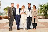 Paolo Sorrentino Toni Servillo Flavio Bucci Carlo Buccirosso Massimo Popolizo Anna Bonaiuto and Piera Degli Esposito at the photo call of 'Il Divo'...