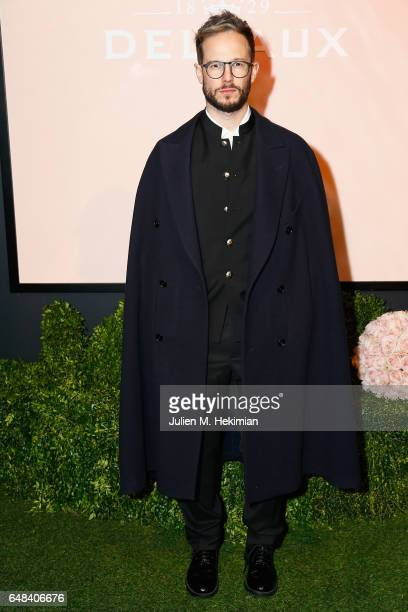 Paolo Stella attends the Delvaux cocktail party during Paris Fashion Week Womenswear Fall/Winter 2017/2018 at Jardin du Palais Royal on March 5 2017...
